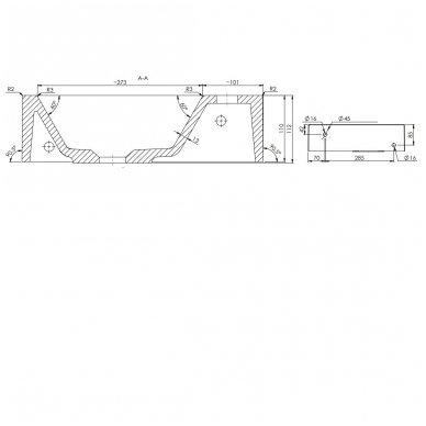 Mažas AMAROK praustuvas 40x11x22c, dešininis 9