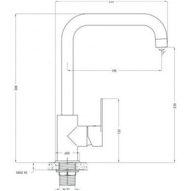 Virtuvinė plautuvė XYLO XL su maišytuvu ALPINIA 6