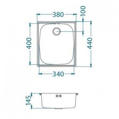 Nerūdijančio plieno virtuvinė plautuvė Alveus Basic 10 sat 4