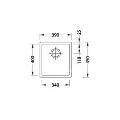 Nerūdijančio Plieno Virtuvinė Plautuvė ALVEUS Quadrix 20 Antracitas 3