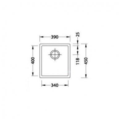 Nerūdijančio Plieno Virtuvinė Plautuvė ALVEUS Quadrix 20 Auksas 3