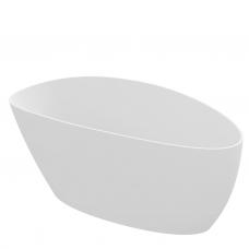 Omnires Marble+ vonia iš lieto marmuro Barcelona XL blizgi balta, 170*77 cm