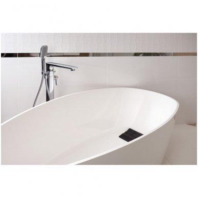 Omnires Marble+ vonia iš lieto marmuro Barcelona XL blizgi balta, 170*77 cm 3