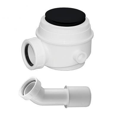 Omnires vonios sifonas be persipylimo WB01XBL (juodos spalvos)