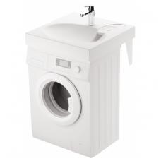 PAA CLARO akmens masės montuojamas virš skalbimo mašinos praustuvas 60x60cm