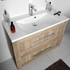 Pakabinama vonios spintelė AMIA su praustuvu 90x46cm