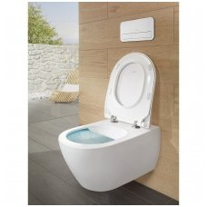 Pakabinamas klozetas Villeroy & Boch Subway 2 Direct Flush su slim Soft Close dangčiu ir CERAMIC PLUS danga