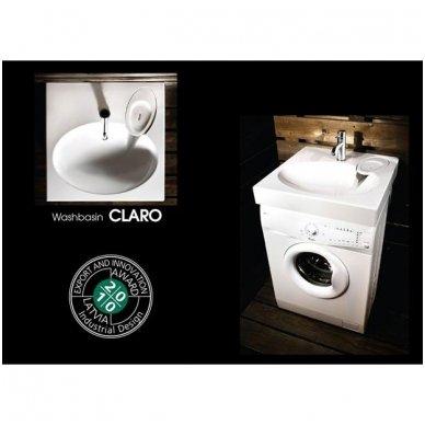 PAA CLARO akmens masės montuojamas virš skalbimo mašinos praustuvas 60x60cm 6