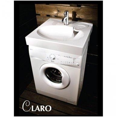 PAA CLARO akmens masės montuojamas virš skalbimo mašinos praustuvas 60x60cm 4