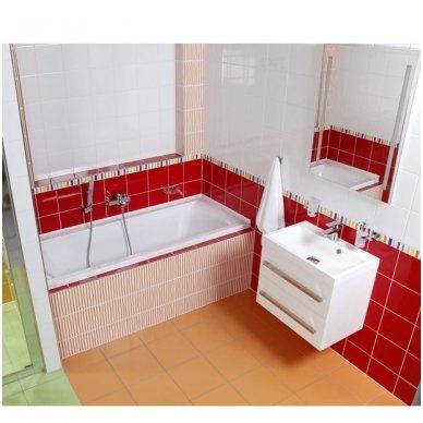Pakabinama vonios spintelė CUBE su lieto akmens praustuvu 4