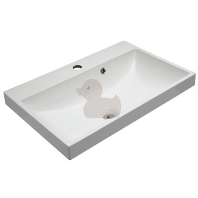 Pakabinama vonios spintelė CUBE su lieto akmens praustuvu 6