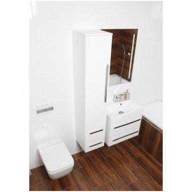 Pakabinama vonios spintelė CUBE su lieto akmens praustuvu 2