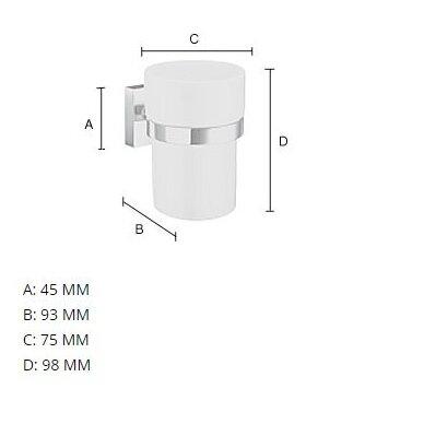 Pakabinamas dušo puodelis RV343P 3