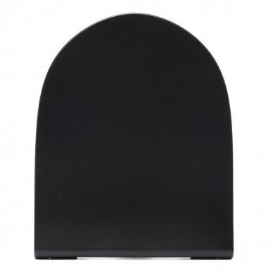 Pakabinamas juodas Vitra Sento Rimless klozetas su lėtaeigiu dangčiu 9