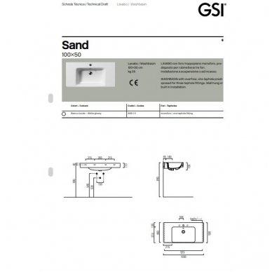 Pakabinamas praustuvas Sand 100x50 cm 4