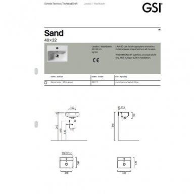 Pakabinamas praustuvas Sand 40x32 cm 4
