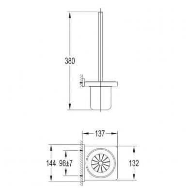 Pakabinamas tualetinis šepetys Darling DA70620 NI 2