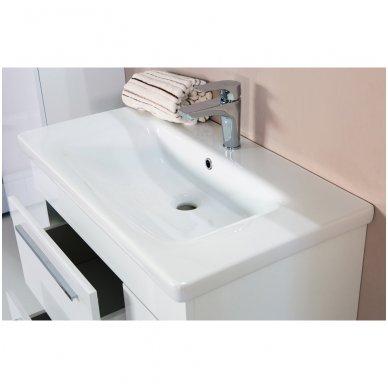 Pastatoma vonios spintelė SOFT KHROMA su praustuvu 2