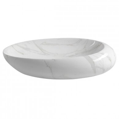 Pastatomas praustuvas Dalma balto marmuro dekoracija MM317 4