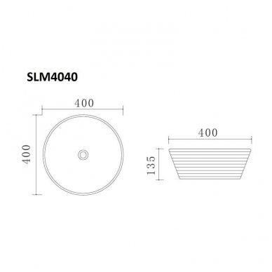 Pastatomas praustuvas SLIM SLM4040 6