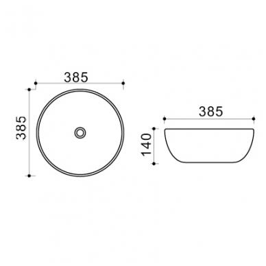 Pastatomas praustuvas SOLO39 + maišytuvas Hansgrohe Logis 190 + dugno vožtuvas clicklack 6
