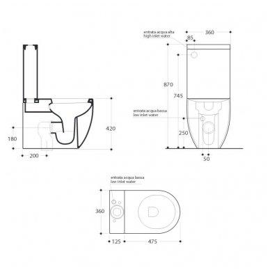 Pastatomas tualetas Kerasan Flo 3117 3