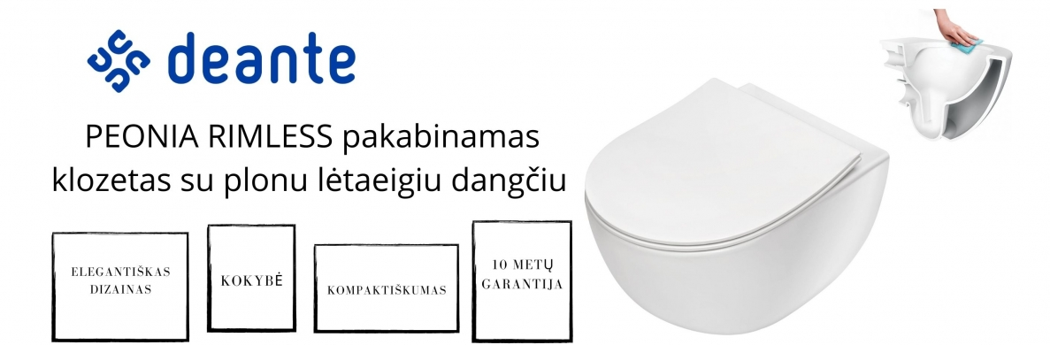 Peonia Rimless wc