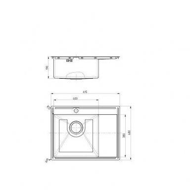 Plautuvė Alveus Concept 20 SAT + Maišytuvas 2