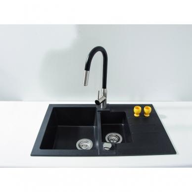 Plautuvė virtuvei Alveus Rock 70 juodos spalvos 2