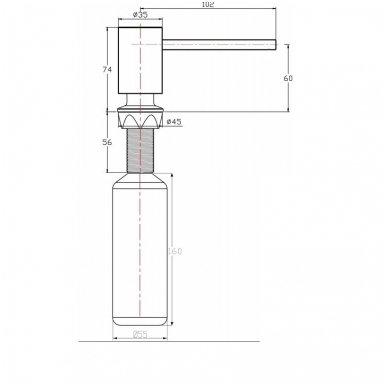 Plautuvės apvalus įmontuojamas dozatorius SP010 2