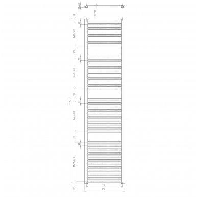 Plieninės Thermal Trend kopetėlės tiesios 15