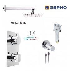 Potinkinis termostatinis dušo komplektas Sapho Kimura KW30cm