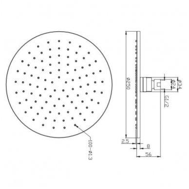 Potinkinė dušo sistema Omnres SYS Y22 6
