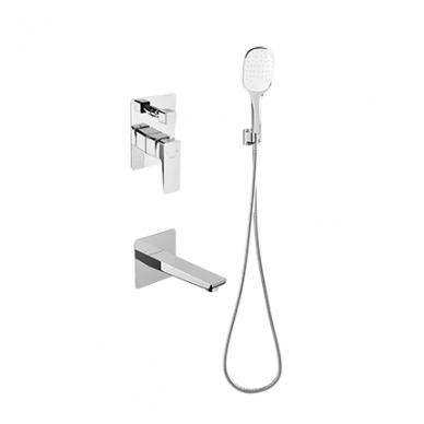 Potinkinė dušo sistema su snapu voniai Omnires Parma SYSPMW01CR