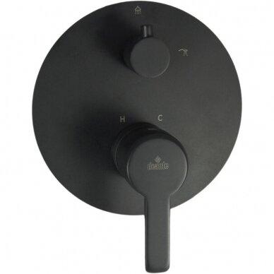 Potinkinė juoda vonios sistema Deante Arnika 2