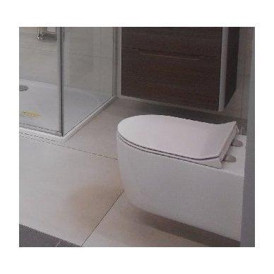 Potinkinio wc rėmo Grohe komplektas su pakabinamu klozetu Havana Rimless su slim lėtaeigiu dangčiu 4