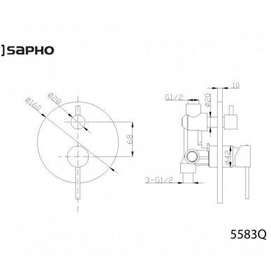 Potinkinis dušo komplektas Sapho Rhapsody 9