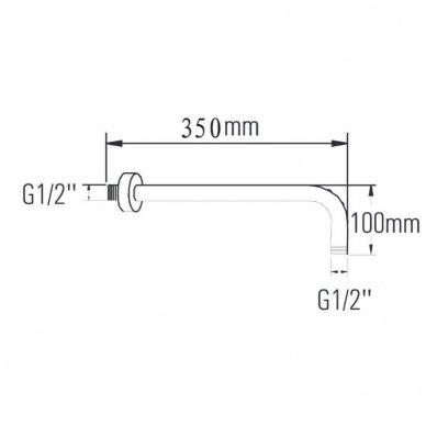 Potinkinė termostatinė dušo sistema KIMURA 7