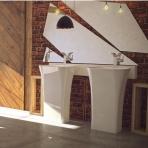 Praustuvas pastatomas ant grindų Besco ASSOS