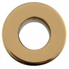 Praustuvo persipylimo skylės apdaila aukso spalvos