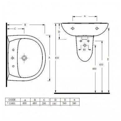 Praustuvas Korin 60x48cm 4