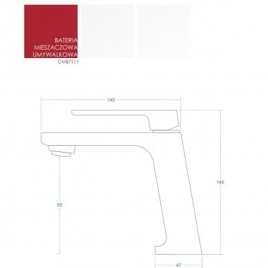Praustuvo maišytuvas Corsan CMB7111BL 3