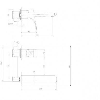 Praustuvo maisytuvas iš sienos Deante Hiacynt BQH 054L 2
