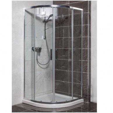 Pusapvalė dušo kabina Anima TEX 100x100cm