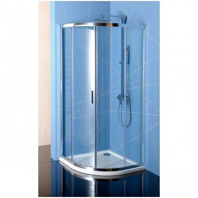 Pusapvalė dušo kabina Polysan Easy Line