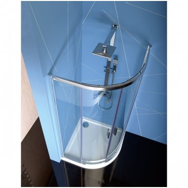 Pusapvalė dušo kabina Polysan Easy Line 2