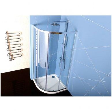Pusapvalė dušo kabina Polysan Easy Line 4
