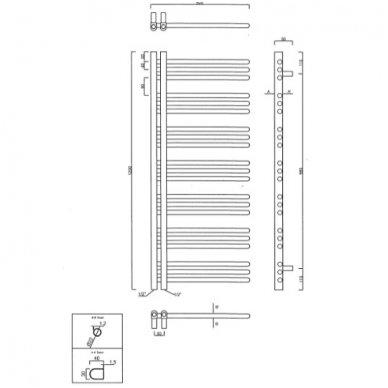 Rankšluosčių džiovintuvas Sapho Dorlion 50x120cm 3