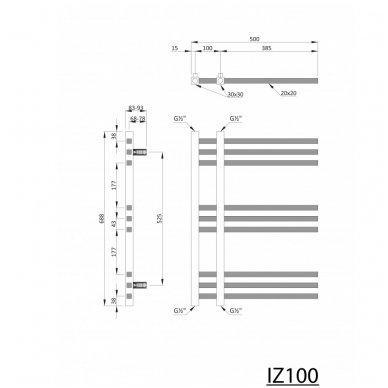 Rankšluosčių džiovintuvas MAGDALENA IZ100 Chromuotas 4