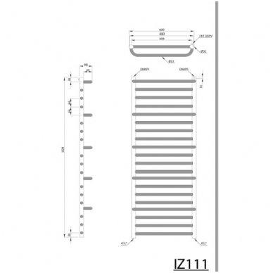 Rankšluosčių džiovintuvas Manisa IZ110 Chromuotas 3
